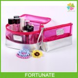Fashion Lady Clear PVC PU Cosmetic Bag Makeup Bag