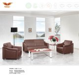 Modern Design Office Leather Sofa Covered with Metal Leg (HY-S973)