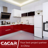 Carnival Modern Stylish Red Stoving Varnish Lacquer Kitchen Cabinet (CA14-13)