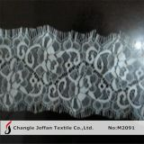 100% Nylon Lace Scalloped Lace for Dress Material (M2091)