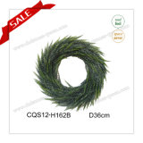 D36cm Wall Art Plastic Artificial Wreath Christmas Outdoor Decoration