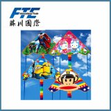 Plaid Promotional Gift Cartoon Kite for Outdoor