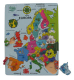 Wooden Europe Map Educational Puzzle