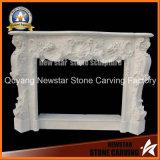 White Stone Fireplace Mantel Marble Fireplace Surround