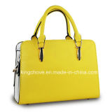 Fashion Yellow Lichi PU Newest Designer Ladies Handbags (KCH120-2)