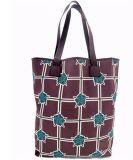 Vertical Tote Purse Handbag Bag in Cotton Fabric (BS16017)