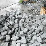 G654 Dark Grey Granite Tumbled Paving Stone for Garden