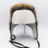 High Quality Winter Outdoor Lei Feng Bomber Trapper Hat with Ear Flaps