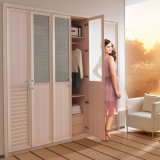 2015 New Fashion Wooden PVC Wardrobe with Glass (YG11432)