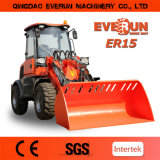Everun Brand CE Approved 1.5ton Articulated Mini Wheel Loader Farm Machinery