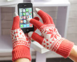 Jacquard Acrylic Glove Touch Screen Golve for Mobile Phone