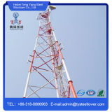 Self Supporting Three Legs Pipe Telecommunication Steel Tower