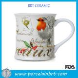White DIY Pattern Ceramic Coffee Cup