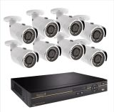 2MP 1080P Bullet Night Vision Ahd 8CH CCTV Security Camera 8CH DVR Kit