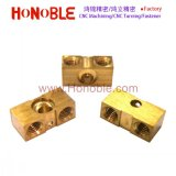 CNC Machining/Machinery/Machined Brass Cuboid Parts with Threaded