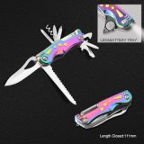 Multi Function Pocket Knife with Colorful Handle (#6212)