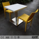 Customized Solid Surface Fast Food Court Square Tables