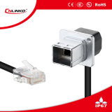 Cnlinko Brand IP65 Cable Connector Modular Jack RJ45 Network Plug and Mount Socket for Signal Transmission