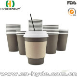 Insulated Disposable Coffee Paper Cup with Lid