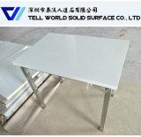 SGS/ISO9001 Approved White Solid Surface Round Cafe Table Dining Table