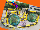 Wholesale sport games zorb ball race track inflatable go kart track rental