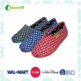 Canvas Upper with Spot Decoration, Confortable Wear Canvas Shoes