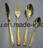 Chinese Design Stainless Steel Rose Gold Dinnerware Cutlery Set Sx-Rg004