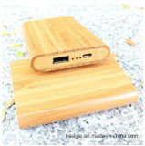 2015 Mobile Newest Treasure Ultrathin Polymer Rechargeable Batteries 5200 Ma Mobile Power Made of Bamboo Mobile Power