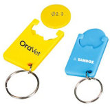 Plastic Coin Holder with Keychain Design