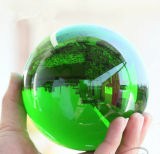 K9 Crystal Ball Glass Globe Green Crystal Ball