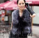 2015 Autumn and Winter Women Faux Fox Fur Vest