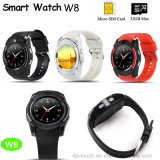 Full View Round Screen Bluetooth Mobile Watch Phone with SIM Card Slot (W8)