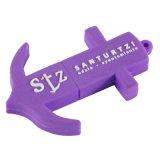 Purple Anchor Shape USB Flash Drive with Keychain (EP017)