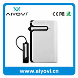 Promotional Wholesale 6000mAh Portable Power Bank with Bluetooth Earphone