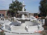 Hunan White Marble Fountain for Garden Decoration