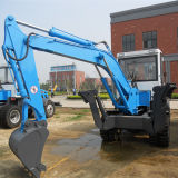 5 Tons Hot Sale Wheel Excavator with 0.4m3 Bucket