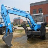 5 Tons Hot Sale Wheel Excavator with 0.4m3 Bucket