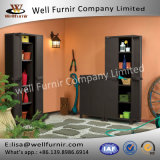 Well Furnir Space Basic Base Rattan Utility Storage Cabinet