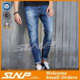 Men Fashion High Stardard Washing Indigo Blue Denim Long Pants
