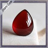 Red Garnet Water Drop Pear Cabochon Narutal Garnet Beads