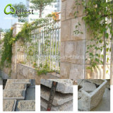 G682 Yellow Rusty Granite Mushroom Stone Wall Cladding for Exterior Wall