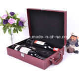 Fashion Design Good Workmanship Leather Wine Box