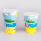 Double PE Coated Cold Drink Paper Cup with Customized Logo Printing (YHC-016)