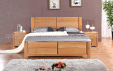 Solid Wooden Bed Modern Double Beds (M-X2237)