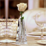 Wholesale New Design Crystal Flower Glass Vase for Home Decoration