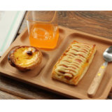Hongdao Natural Color Wooden Tray with Handle for Breakfast Serving Tray Dish _E