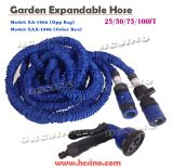 "China Best Quality Expandable Watering Hose Fitted with 3/4"" to 1/2"" Faucet / Tap Connector"