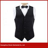 Guangzhou Factory Custom Cheap Hotel Restaurant Waiter Black Vest (V14)
