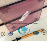 Light Purple PVB Laminated Glass with CE, ISO