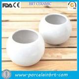 Cheap White Round Mini Ceramic Flower Pot